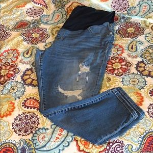 Distressed skinny ankle maternity jeans XL (16-18)